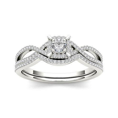 1/3 CT. T.W. Diamond 14K White Gold Engagement Ring