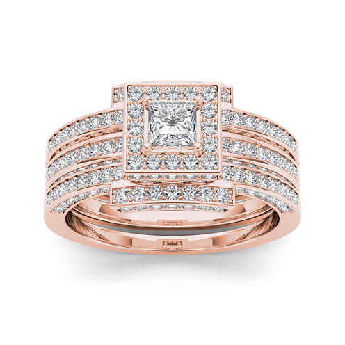 1 1/2 CT. T.W. Diamond 14K Rose Gold Bridal Set