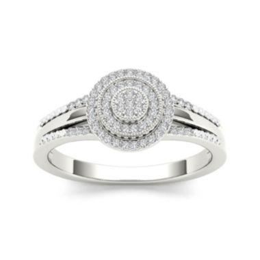 jcpenney.com | 1/6 CT. T.W. Diamond 10K White Gold Engagement Ring