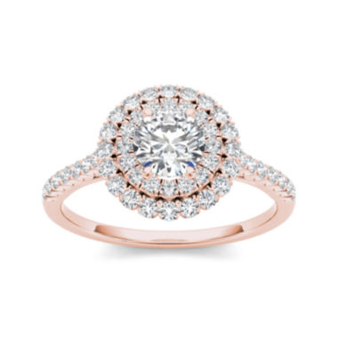 jcpenney.com | 1 CT. T.W. Diamond 14K Rose Gold Engagement Ring