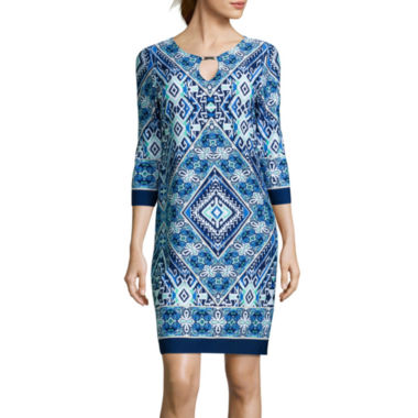 jcpenney.com | Tiana B. 3/4-Sleeve Shift Dress