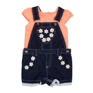 jcpenney.com | Little Lass® Shortall and Tee Set - Toddler Girls 2t-4t