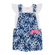 Little Lass® Shortall and Tee Set - Toddler Girls 2t-4t