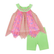 Little Lass® Top and Short Set - Toddler Girls 2t-4t