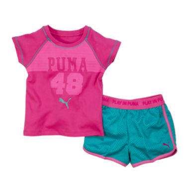jcpenney.com | Puma® Tee and Active Shorts Set - Preschool Girls 4-6x