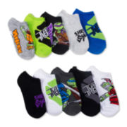 Licensed Teenage Mutant Ninja Turtle 10Pack No Show Socks- Boys