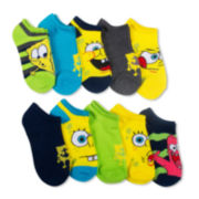 Licensed Spongebob Squarepants 10-pk. No-Show Socks - Boys