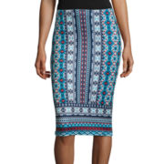 By & By Print Pencil Skirt