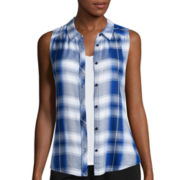 Arizona Sleeveless Americana Plaid Shirt