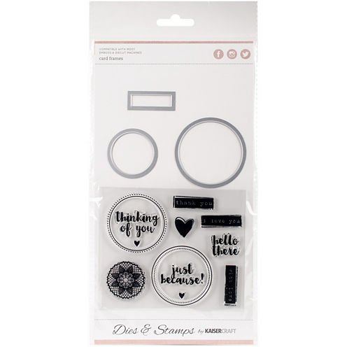 Card Frame Dies and Stamps Kit