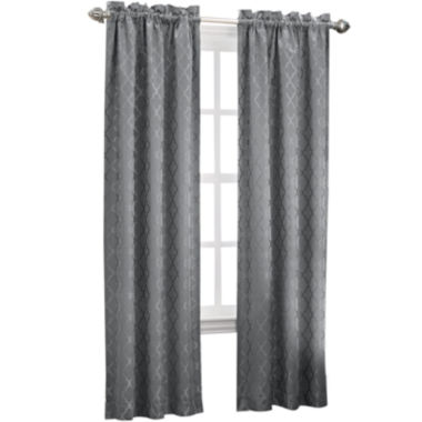 jcpenney.com | Sun Zero™ Dion Rod-Pocket Thermal Room-Darkening Curtain Panel