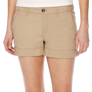 jcpenney.com | a.n.a® Flat-Front Flap Pocket Poplin Shorts - Petite