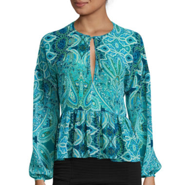 jcpenney.com | Belle + Sky™ Long-Sleeve Peasant Blouse