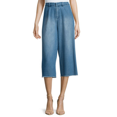 jcpenney.com | Belle+Sky™ Denim Wide-Leg Cropped Pants