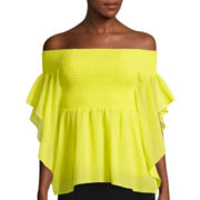 Bisou Bisou® Smocked Off-The-Shoulder Top