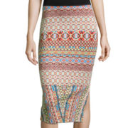 Bisou Bisou® Side-Slit Pencil Skirt