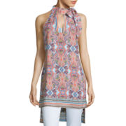 Bisou Bisou® Tie-Neck High-Low Tunic