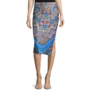 Bisou Bisou® Side-Slit Pencil Skirt