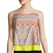 Bisou Bisou® Sleeveless Tiered Cropped Top
