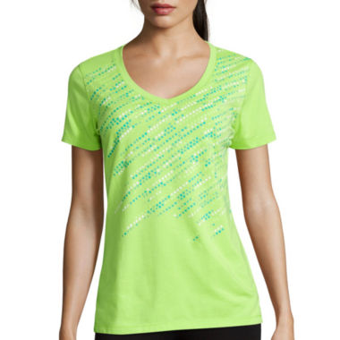 jcpenney.com | Made for Life™ Short-Sleeve V-Neck Graphic Tee - Tall