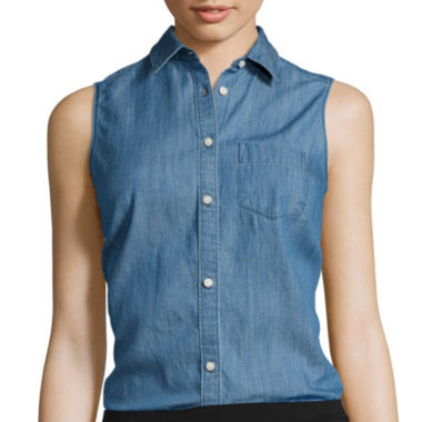 jcpenney.com | St. John's Bay® Sleeveless Button-Front Shirt