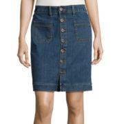 St. John's Bay® Straight Denim Skirt