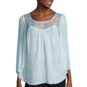 Alyx® Long-Sleeve Tie-Dye Gauze Top