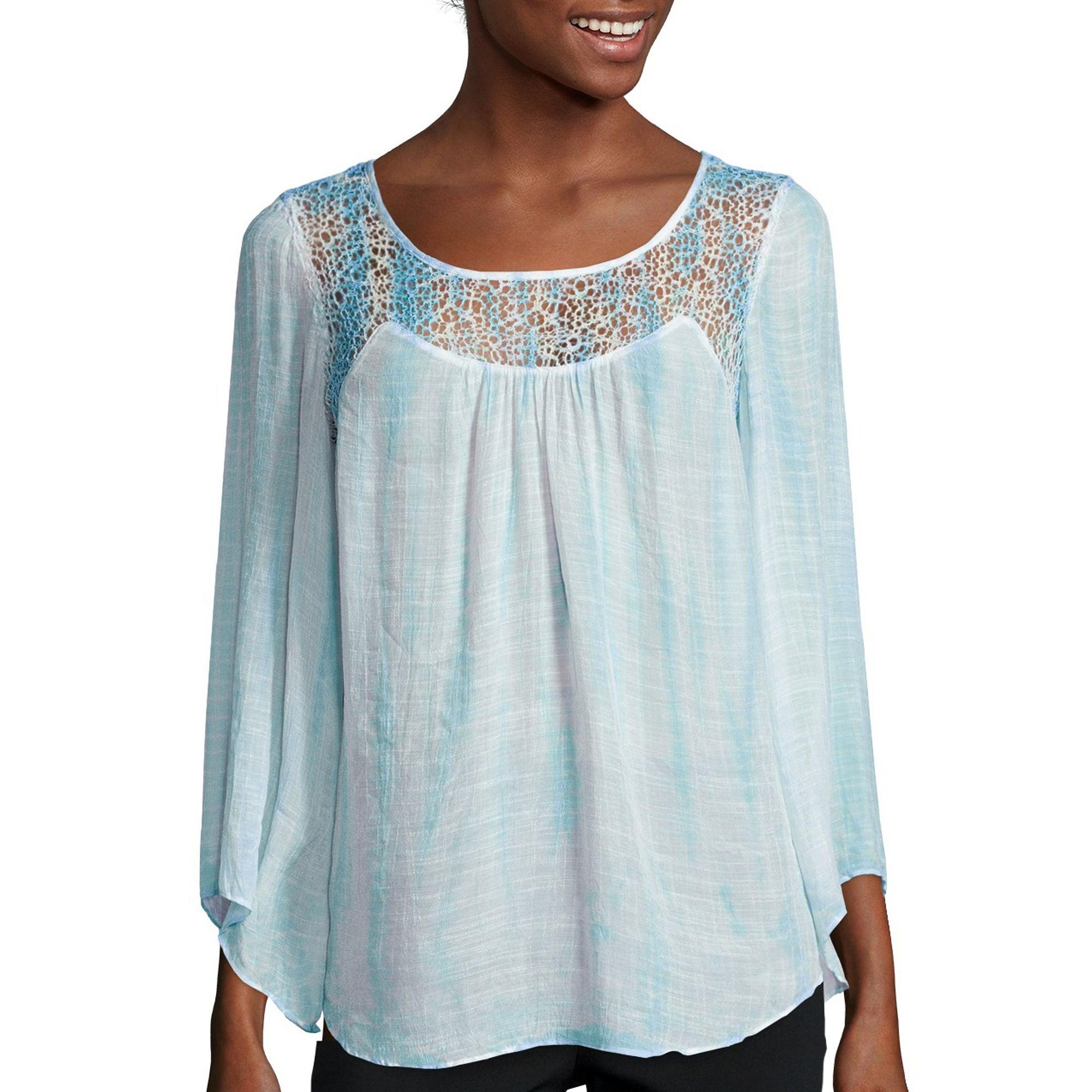 Alyx Long-Sleeve Tie-Dye Gauze Top plus size,  plus size fashion plus size appare