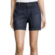 Liz Claiborne® Classic Chino Denim Bermuda Shorts