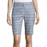 Liz Claiborne® Jacquard Walking Shorts