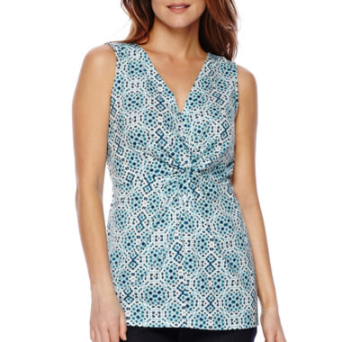 jcpenney.com | St. John's Bay® Sleeveless Twist-Front Top