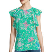 I 'Heart' Ronson® Flutter-Sleeve Top