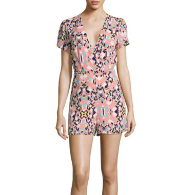 jcpenney.com | Lily Black Happy Afternoon Short-Sleeve Romper