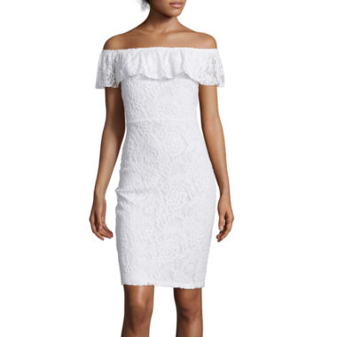 jcpenney.com | I 'Heart' Ronson® Off-Shoulder Lace Dress