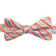 JF J. Ferrar® Stripe Pre-Tied Bow Tie