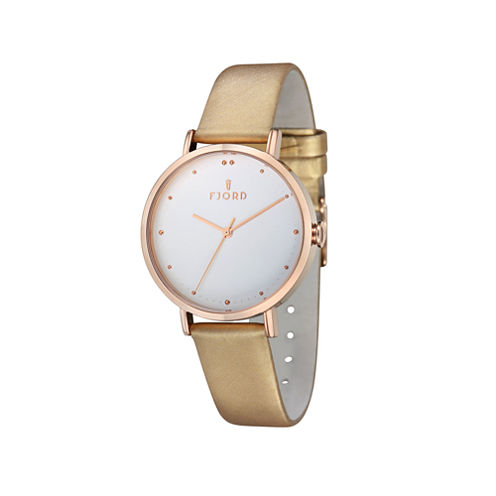 Fjord Mesh Band Womens Rose Goldtone Expansion Watch-Fj-6019-07