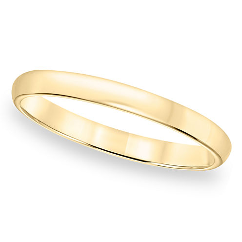 Womens Gold Band, 2mm 10K Gold