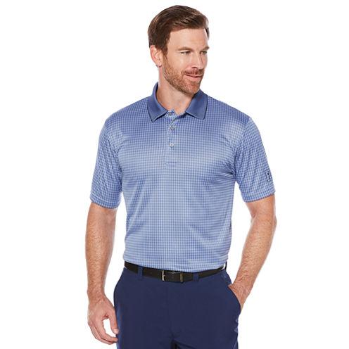 PGA Tour Short Sleeve Jacquard Doubleknit Polo Shirt