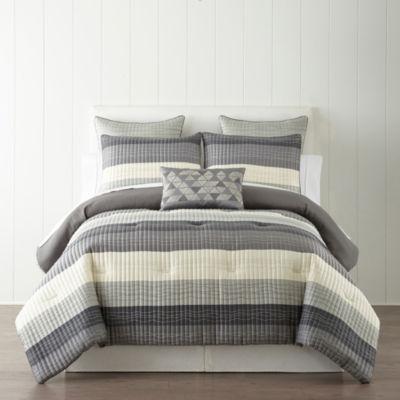 Studio Studio Vale 3-pc. Stripes Comforter Set
