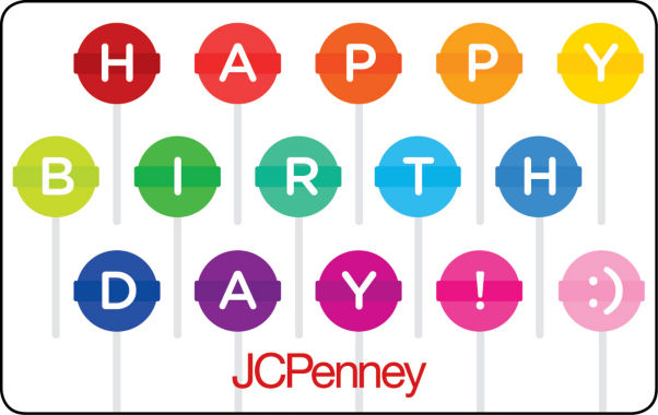 jcpenney.com | $25 Birthday Lollipops Gift Card