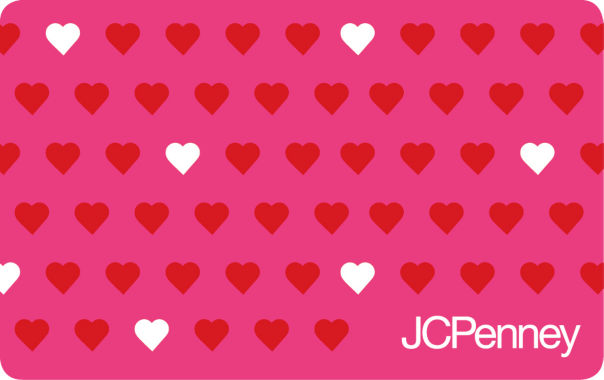 jcpenney.com | $200 Red and White Hearts Gift Card