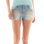 Arizona Embellished Denim Shorts