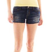 Arizona Paint Splatter Denim Shorts