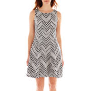 Robbie Bee® Sleeveless Fit-and-Flare Dress