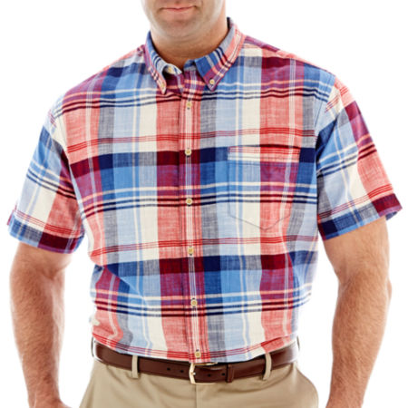 The Foundry Supply Co. Short-Sleeve Crosshatch Shirt-Big & Tall