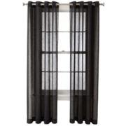 Royal Velvet® Crushed Voile Grommet-Top Curtain Panel