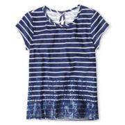 Arizona Sparkle Striped Tee – Girls 6-16 and Plus