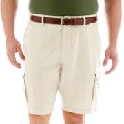 Claiborne® Linen-Cotton Cargo Shorts–Big & Tall