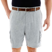 Claiborne® Linen-Cotton Cargo Shorts – Big & Tall