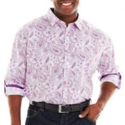 D'Amante Long–Sleeve Paisley Shirt–Big & Tall
